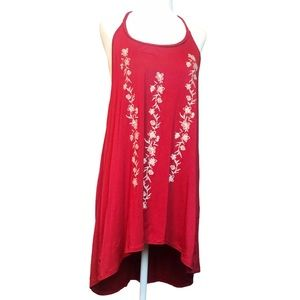 Maurice's Embroidered High Low Racerback tunic top